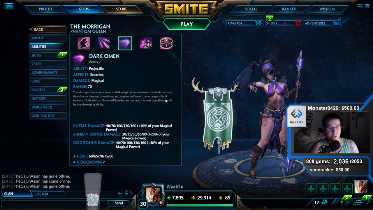 The Morrigan CURRENT GOD GUIDE THE BUILD AND TIPS TRICKS