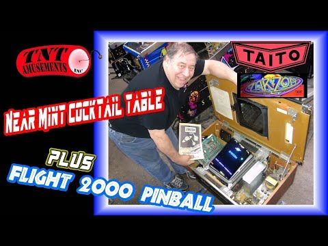 #1371 Taito ZARZON Arcade Video Game-Stern FLIGHT 2000 Pinball Bargain!  TNT Amusements