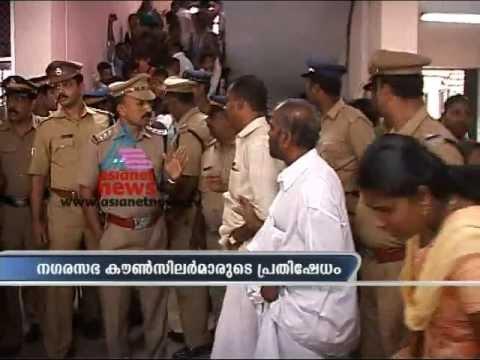 Waste Disposal:Open Fight between Counselors and Corporation staffs in Thiruvananthapuram