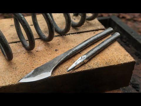 Forge Spring Steel Into Useful Tools | Back To Blacksmithing !