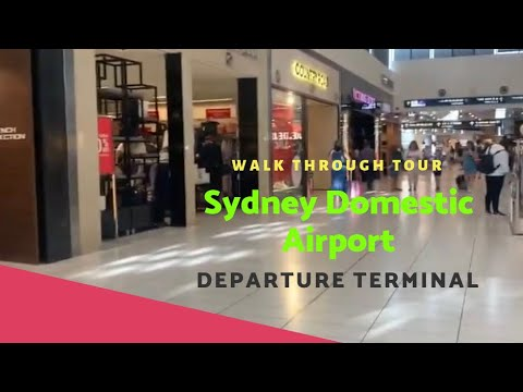 SYDNEY DOMESTIC AIRPORT 2019 - Departure Terminal Walkthrough Restaurants & Shops