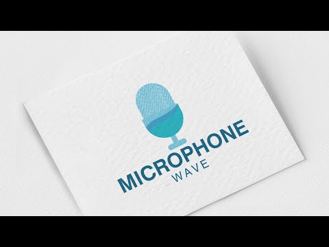 Professional logo design & Easy way in adobe illustrator cc | Tutorial (Microphone Wave)