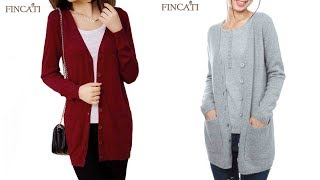 Women Cardigan Loose Sweaters Outerwear Coat Review | Best Cardigan For Women Fashion 2018