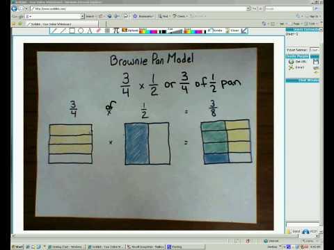 Brownie Pan Model for Multiplying Fractions - YouTube