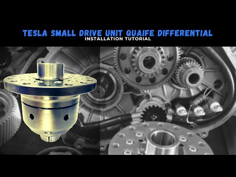 Tesla Small Drive Unit Quaife Differential Fitting Guide Zero EV