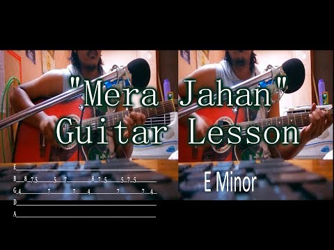 Mera Jahan | Gajendra Verma | Guitar Chords Lesson with intro tabs | Akshat | Iconoclast | 2017