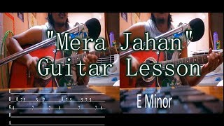 Mera Jahan | Gajendra Verma | Guitar Chords Lesson with intro tabs | Iconoclast India | 2017