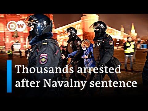 Global condemnation of Kremlin critic Alexei Navalny sentence | DW News