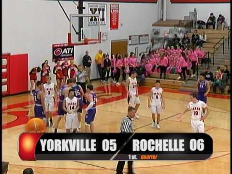 High School Boys Basketball Yorkville, IL vs Rochelle, IL 2017