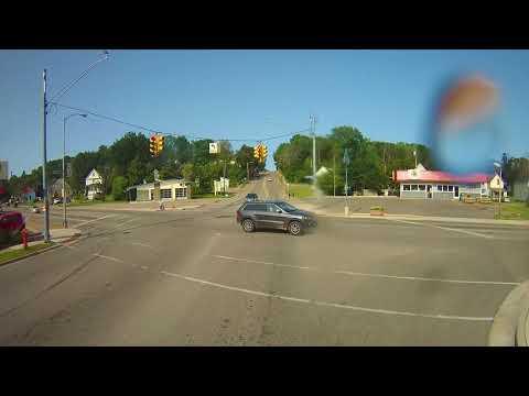 Driving around Sault Ste. Marie, Michigan