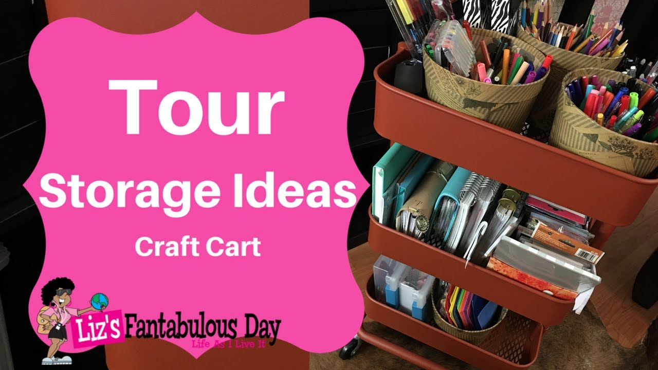 Best Craft Storage Ideas, Craft Cart Tour, Craft Room Storage Solutions,  How To Store Your Planners