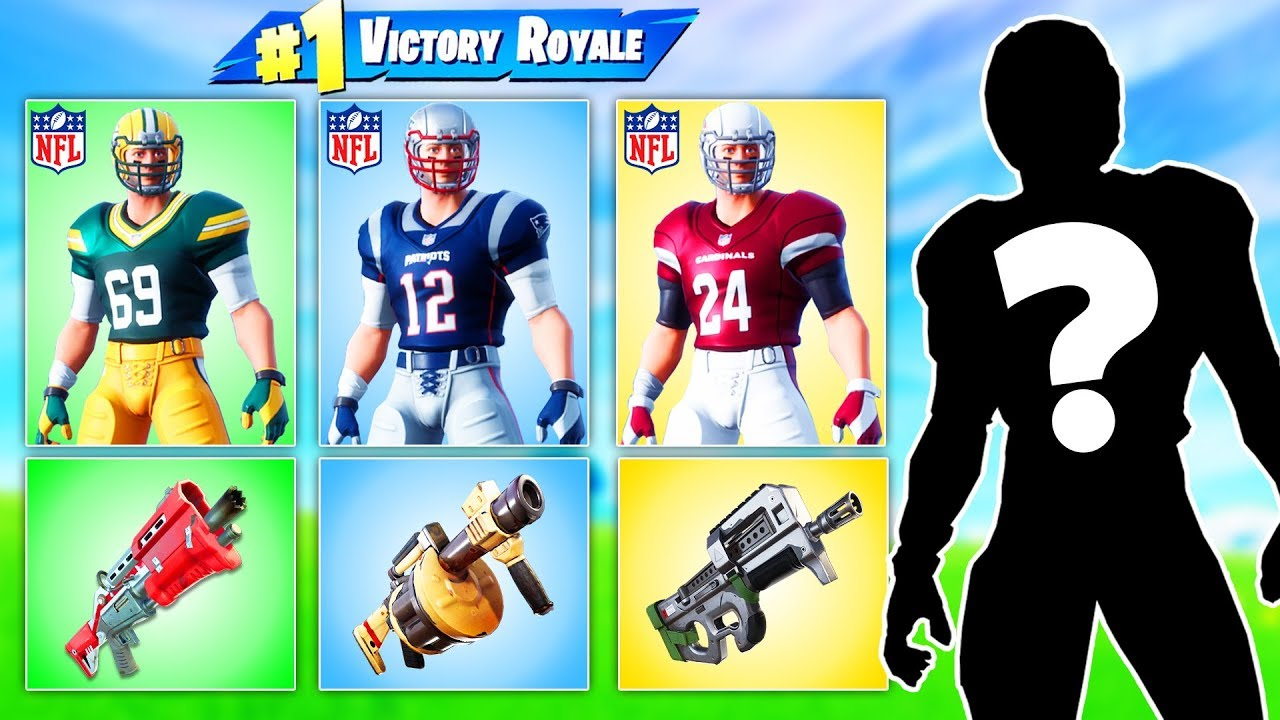 RANDOM *NFL* SKIN Challenge in Fortnite Battle Royale
