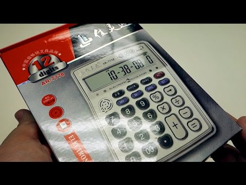 Musical Instrument Calculator AR-7778 unboxing