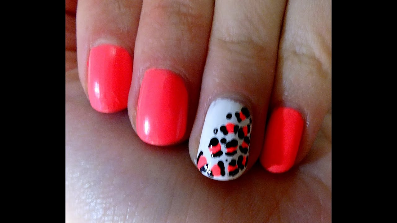 Uñas Decoradas Leopardo Uñas Decoradas Leopardo Tutorial Youtube