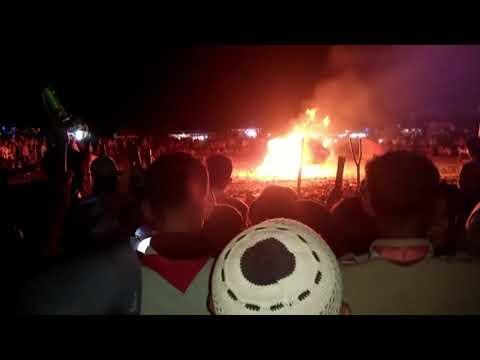 Api Unggun Di Perkemahan Bulakamba