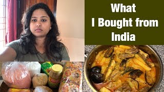 What I Brought From India || Grocery and Utensils Shopping || Easy Bengali Fish Recipe