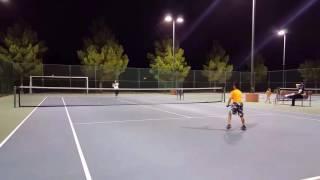 Andre ( 8 ) tennis training - foam ball ( Sept 2016 )