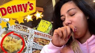 EATING AT THE WORST REVIEWED DENNYS NEAR ME SO NASTY! - Alexisjayda