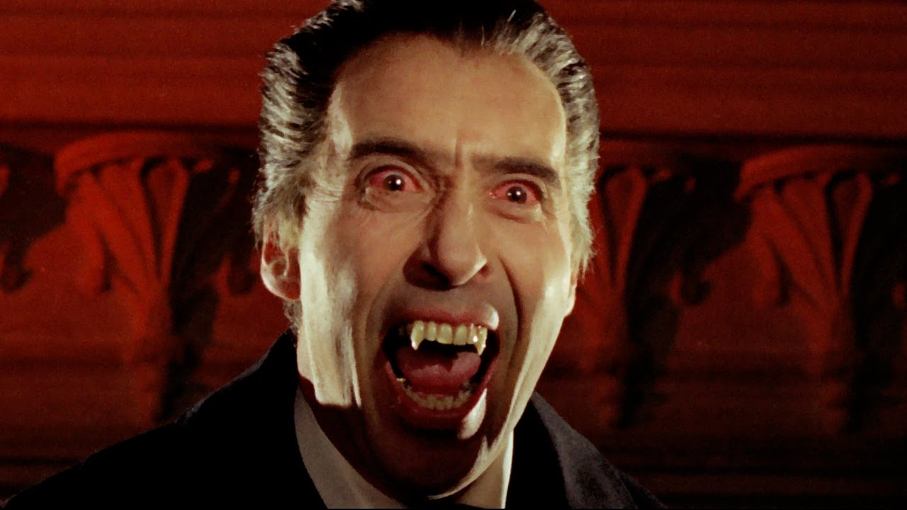 Christopher Lee as Dracula: Bite Montage - YouTube
