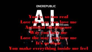 A.I - ONE REPUBLIC ft. Peter Gabriel - LYRICS VIDEO