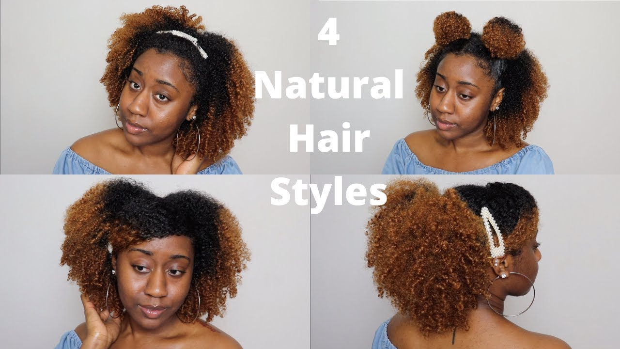 4 Easy Natural Hairstyles 3c 4a Low Porosity Hair