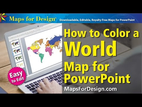 How to Color a World Projection Map to Make Sales Presentation Maps
