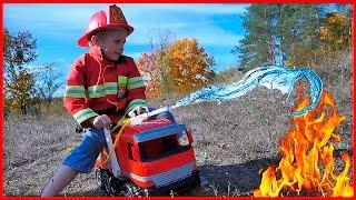видео пожарная машина