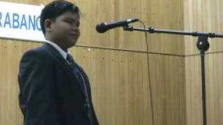 Pidato Melayu Nusantara Sajak Sahabat oleh adik Rizq Qursiah Kairiani