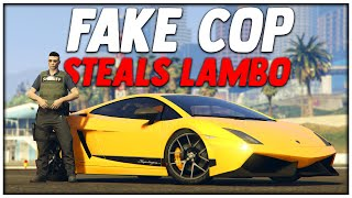 FAKE COP Steals LAMBO | GTA 5 Roleplay (Redline #5)