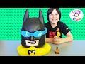 LEGO BATMAN MOVIE Giant PLAY DOH SURPRISE EGG MYSTERY TOYS VINYL FIGURES & FUNKO BLIND BAGS