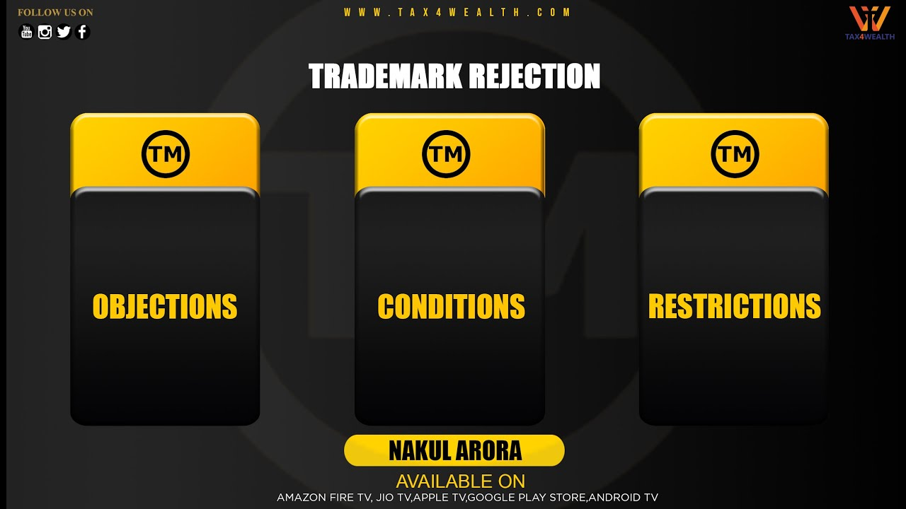 Trademark Rejection  Objections , Conditions and Restrictions