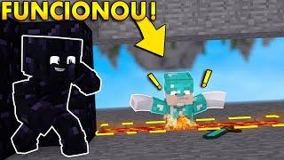 Minecraft: ARMADILHA DE OBSIDIAN FUNCIONOU!   Afreim [ SkyWars ]