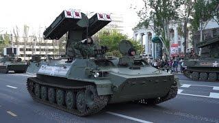 Генеральная репетиция военного парада 9 мая. 7.05.15. Донецк.(HD 720p)