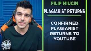 Confirmed Plagiarist Filip Miucin returns to YouTube