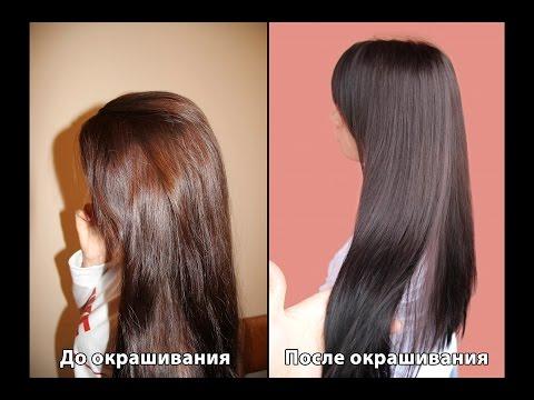 Окрашивание волос краской Garnier 4.15