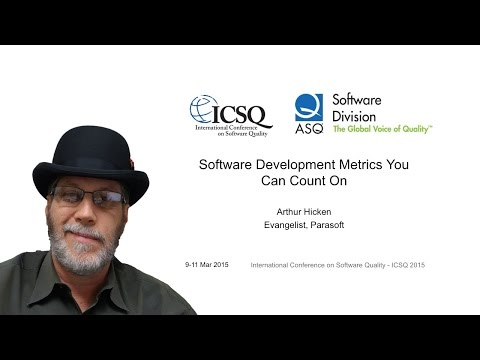 Software Quality Metrics You Can Count On - ICSQ ASQ 2015