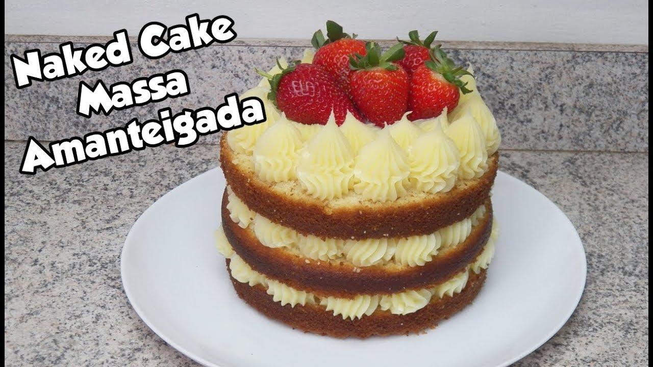 Bolo Naked cake com frutas frescas - YouTube