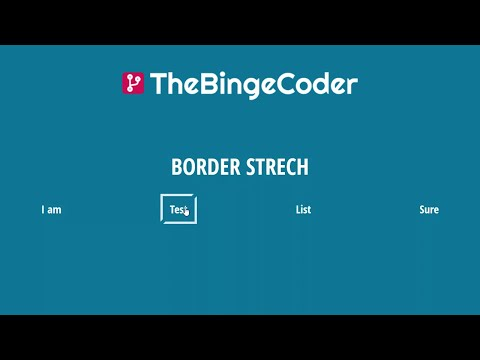 Border Stretch List Hover Animation | CSS Border & Before/After | HTML/CSS/SASS Tutorial | #9 thumbnail