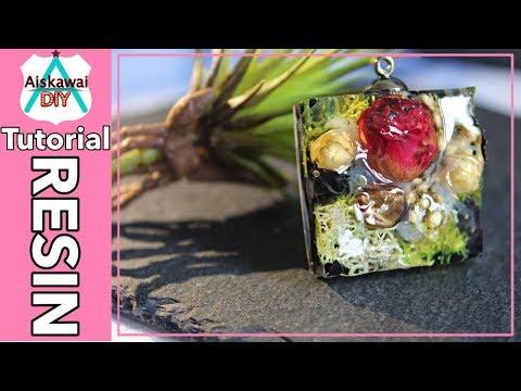 [Resin Tutorial] #013/Fairy Garden Pendant/Real Rose Resin Jewelry/