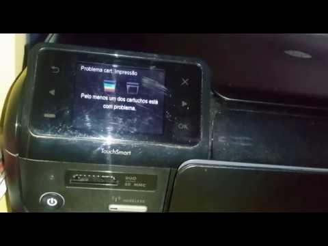 HP Photosmart D110 A (Pelo menos um dos cartuchos está com problema)