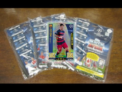 MESSI 101! Multipack Opening - Match Attax Champions League 2015/16 - THE FINALE!