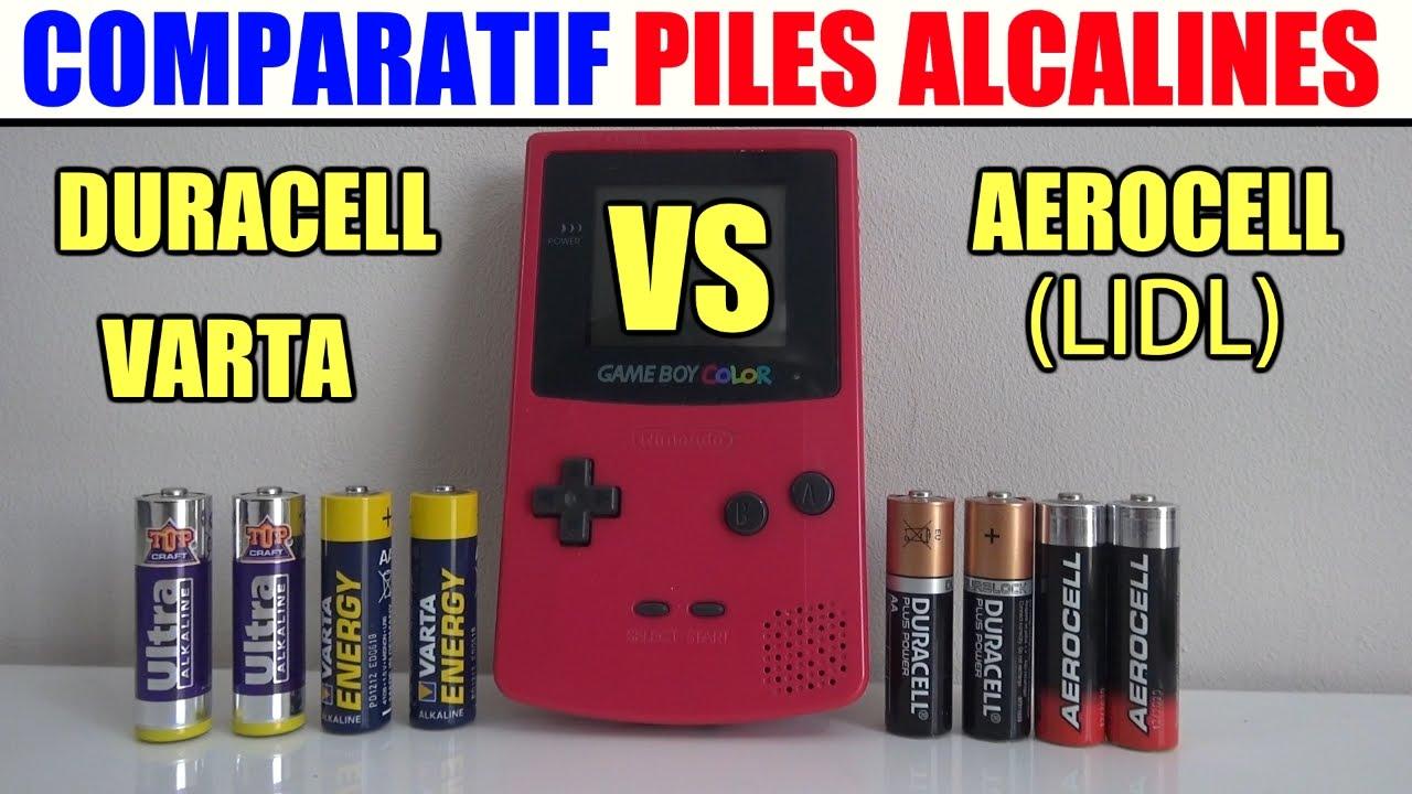 Comparatif Plan De Travail comparatif de piles alcaline non rechargeable duracell - aerocell lidl -  varta