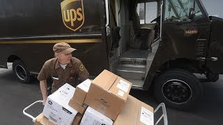 A UPS driver finds the end of his route