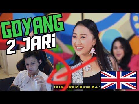 *REACTION* GOYANG 2 JARI - Sandrina  (Goyang 2 Jari Sadrina English Reaction)