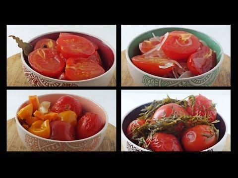 Приготовить Тест_еды Пробуем любимые маринованные помидоры на вкус. 4 рецепта онлайн видео