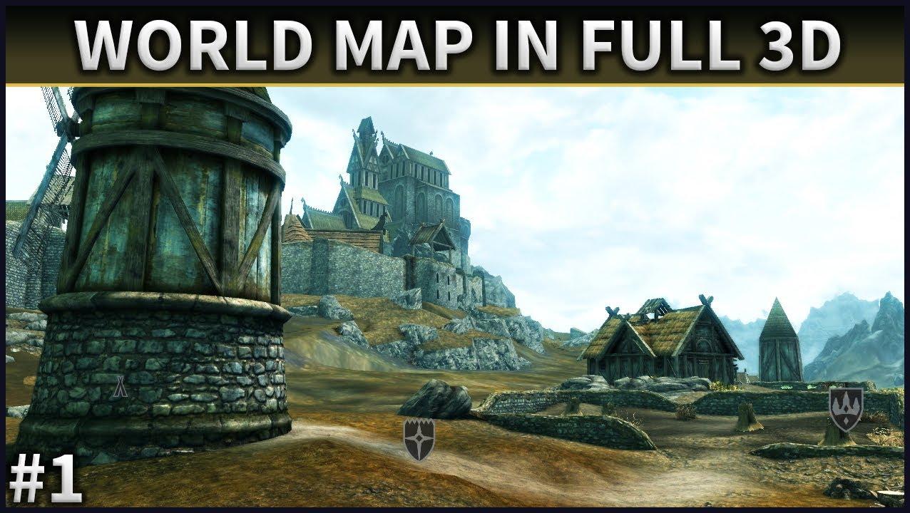 Скайрим мод 3d Карта