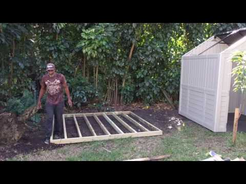 Suncast Plastic Storage Shed Build - How To DIY