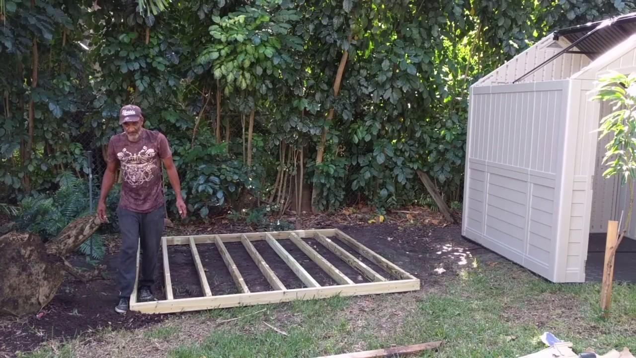 Suncast Plastic Storage Shed Build - How To DIY