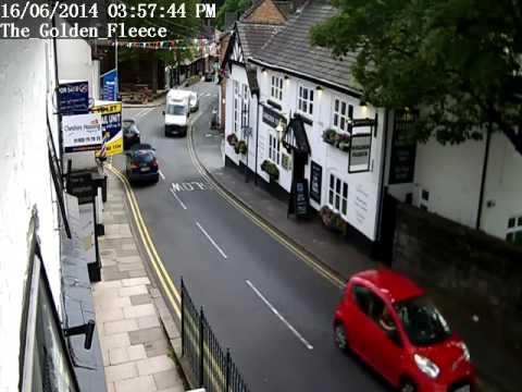 Lymm - View past the golden Fleece Pub