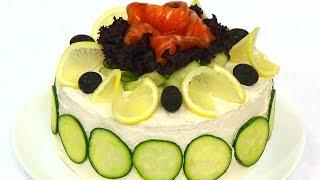 Торт бутербродный с рыбой